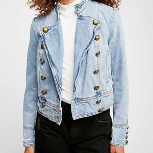 NWOT Free People Ferry Denim Jacket